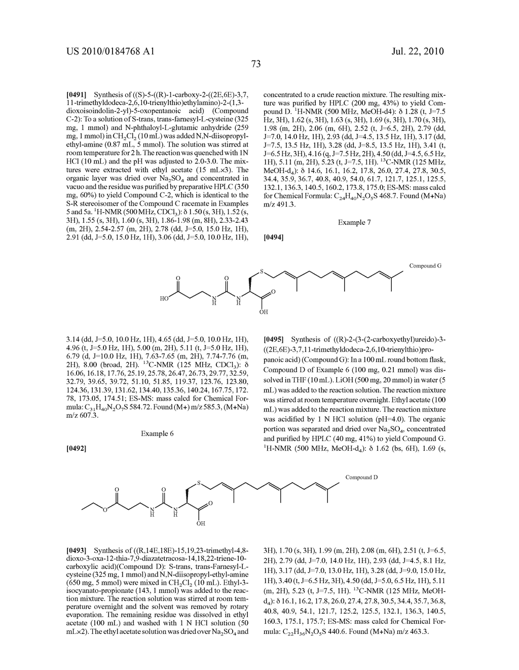 Isoprenyl Compounds and Methods Thereof - diagram, schematic, and image 88