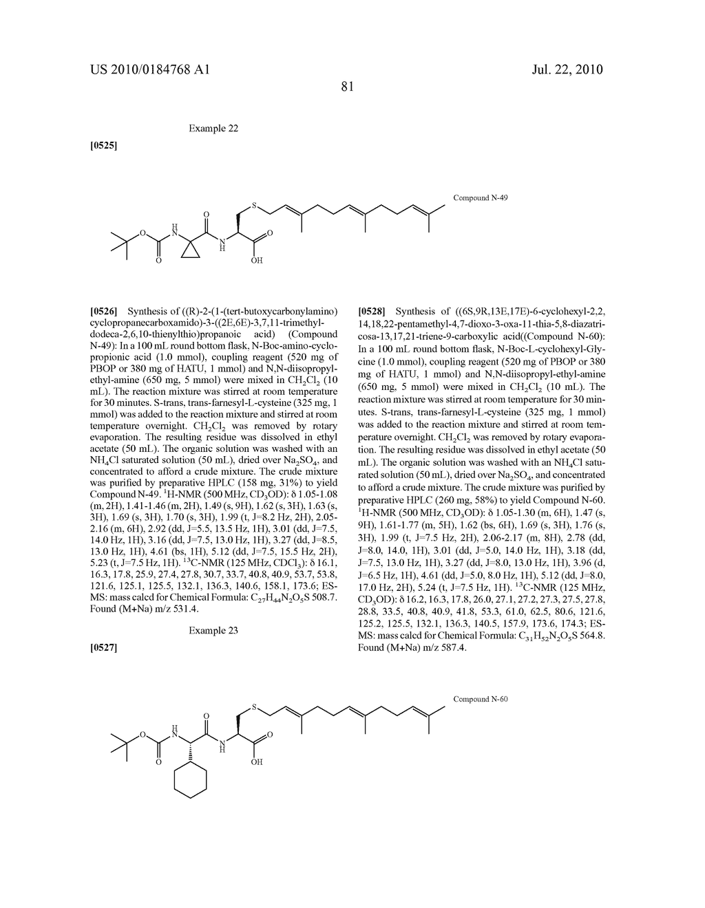 Isoprenyl Compounds and Methods Thereof - diagram, schematic, and image 96
