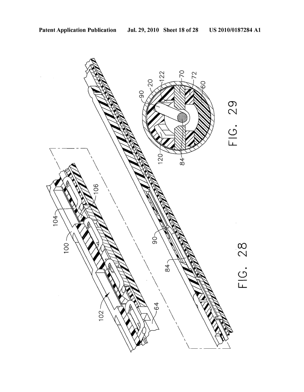 Apparatus For Feeding Staples In a Low Profile Surgical Stapler - diagram, schematic, and image 19