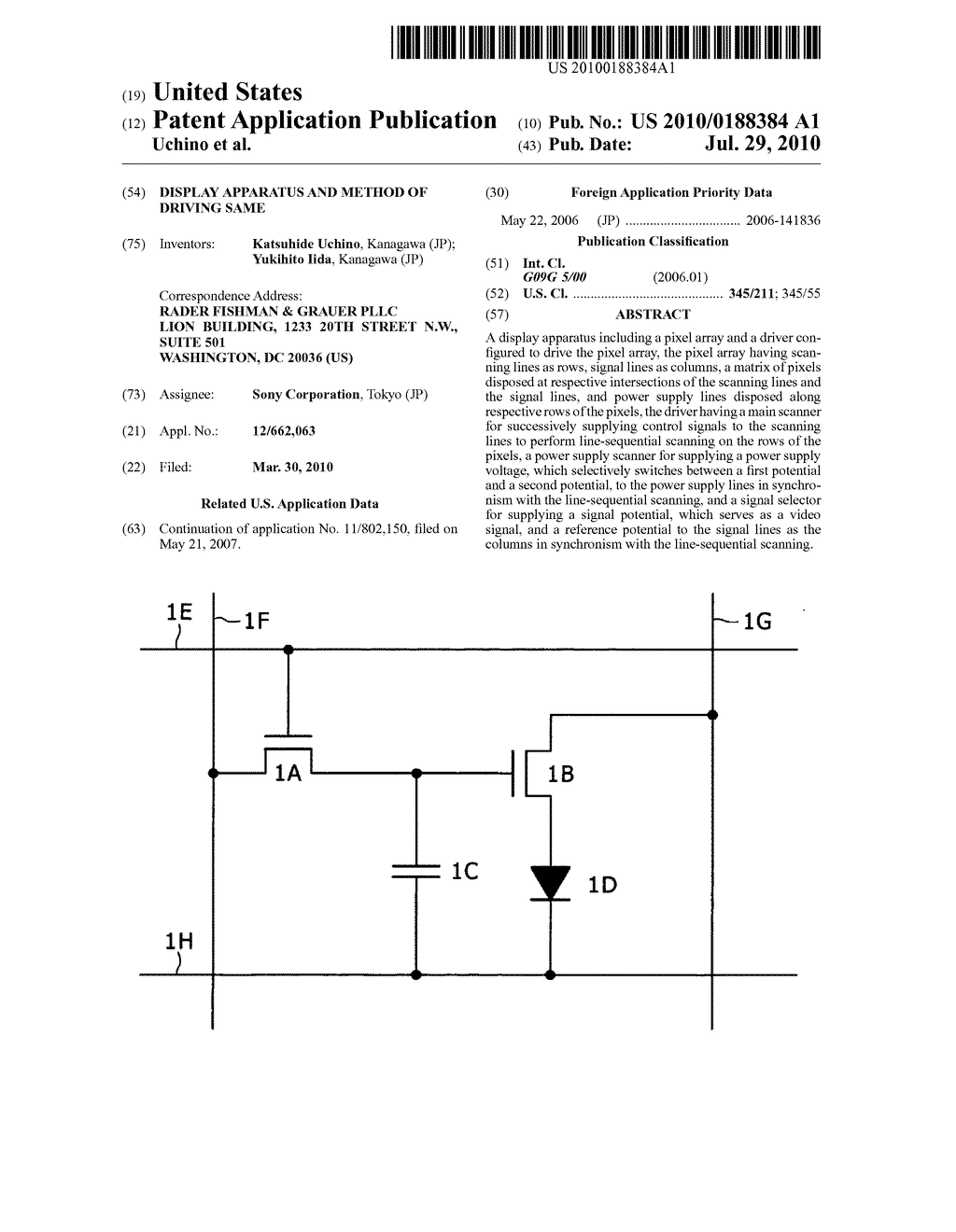 Display apparatus and method of driving same - diagram, schematic, and image 01