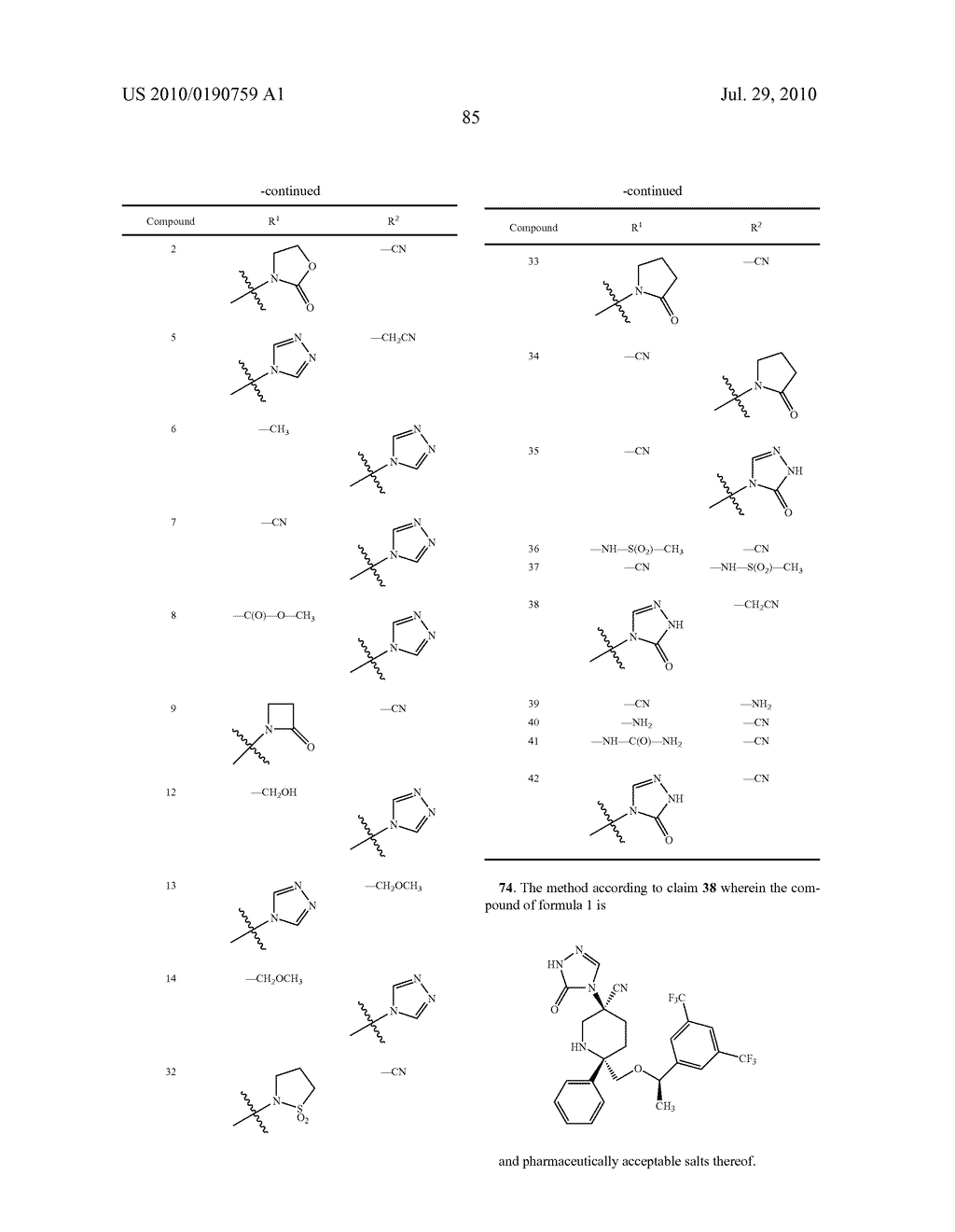 NK 1 ANTAGONISTS - diagram, schematic, and image 86