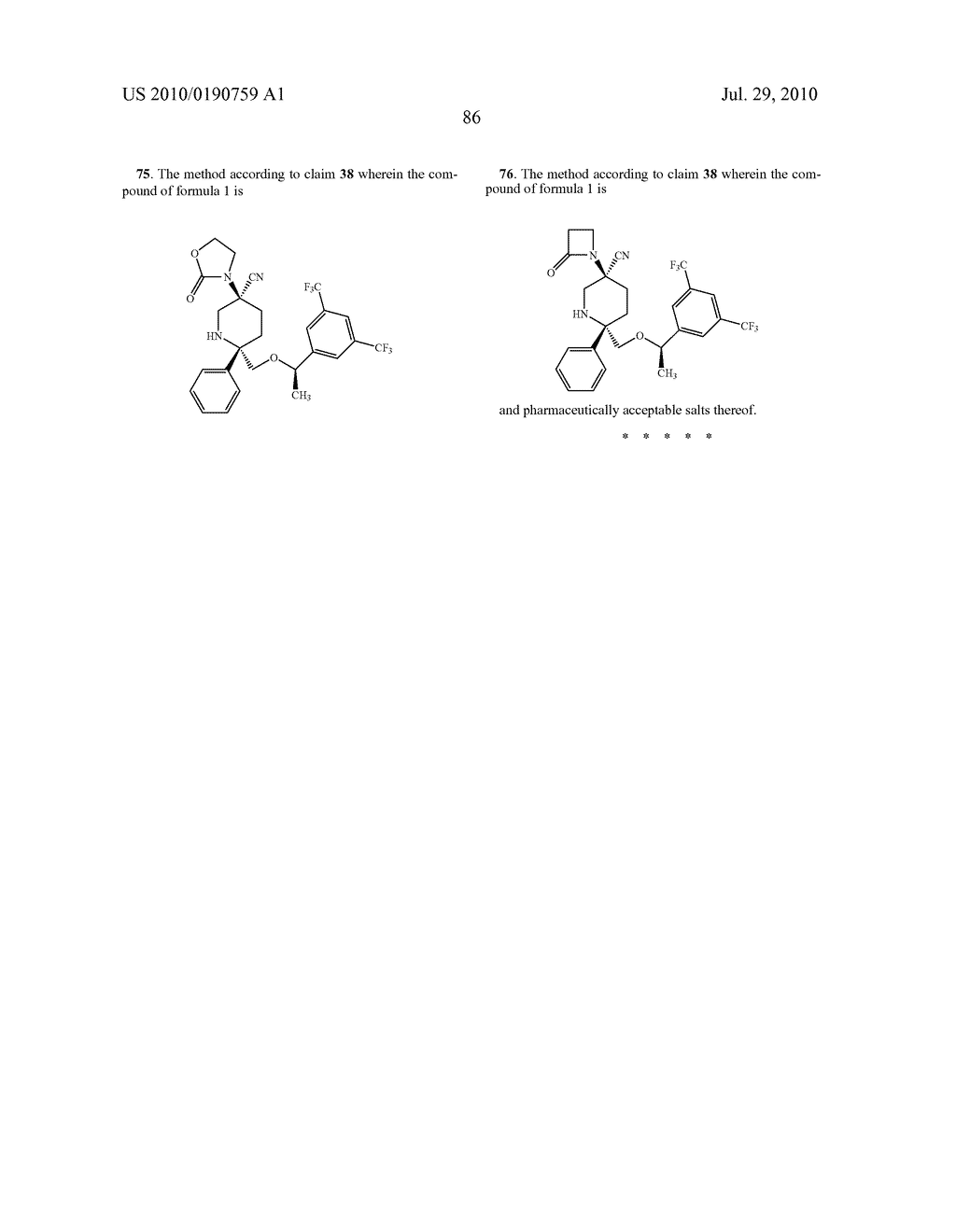 NK 1 ANTAGONISTS - diagram, schematic, and image 87
