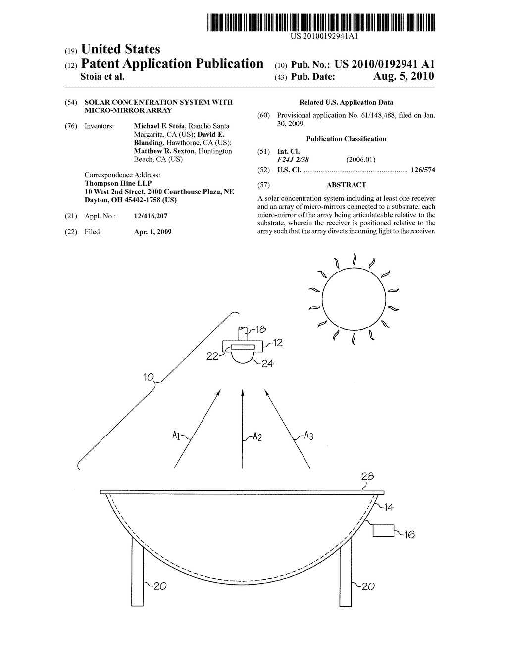 Solar Concentration System With Micro-Mirror Array - diagram, schematic, and image 01