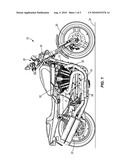CYLINDER HEAD COOLING SYSTEM FOR A MOTORCYCLE diagram and image