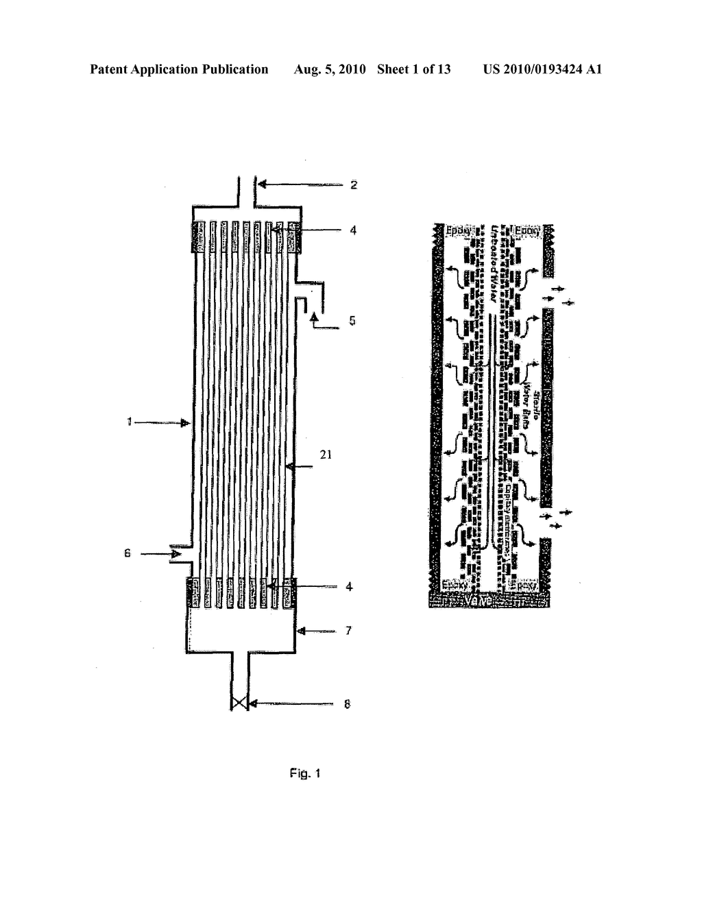 CAPILLARY MEMBRANE FILTER WITH MANUALLY ACTIVATED BACKWASH