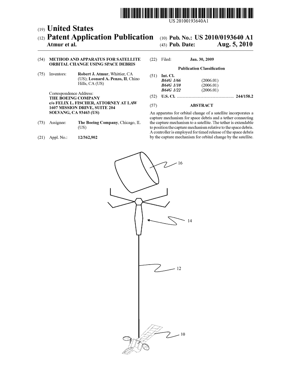 METHOD AND APPARATUS FOR SATELLITE ORBITAL CHANGE USING SPACE DEBRIS - diagram, schematic, and image 01