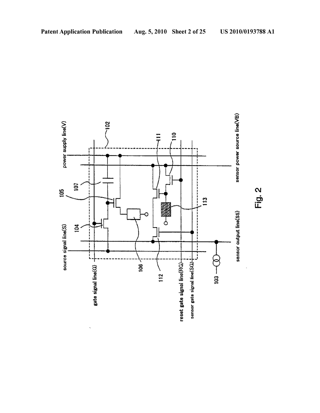 AREA SENSOR AND DISPLAY APPARATUS PROVIDED WITH AN AREA SENSOR - diagram, schematic, and image 03