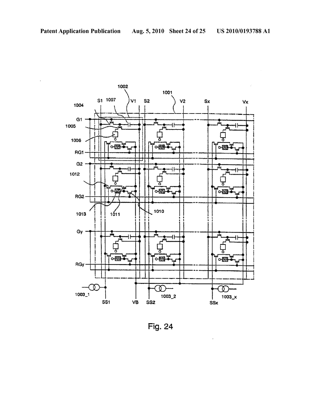 AREA SENSOR AND DISPLAY APPARATUS PROVIDED WITH AN AREA SENSOR - diagram, schematic, and image 25