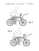 Bicycle safety apparatus diagram and image