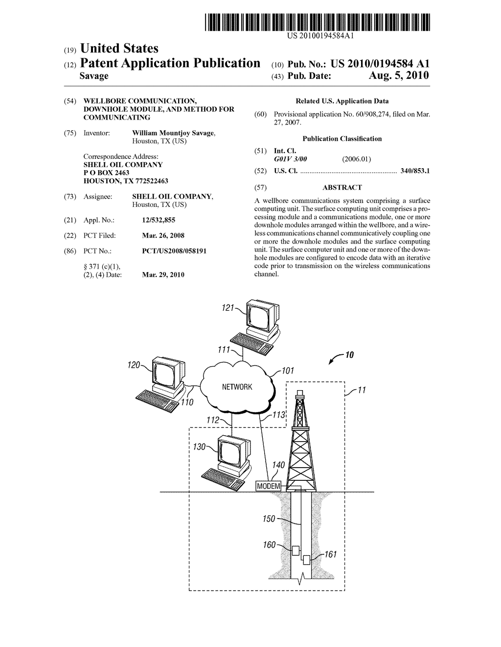 WELLBORE COMMUNICATION, DOWNHOLE MODULE, AND METHOD FOR COMMUNICATING - diagram, schematic, and image 01