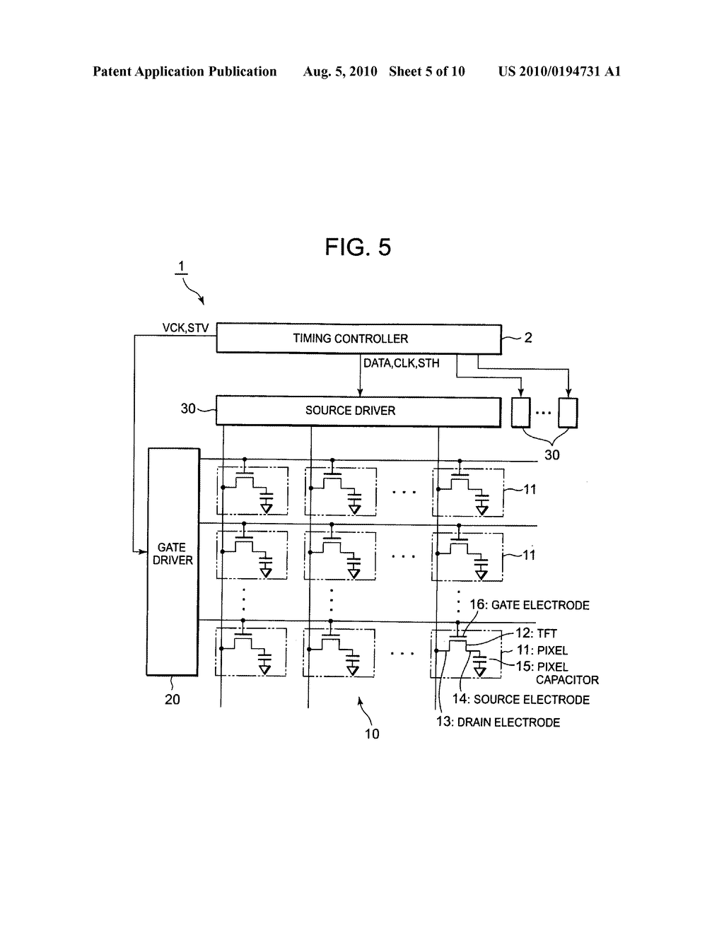Display driver including plurality of amplifier circuits receiving delayed control signal and display device - diagram, schematic, and image 06