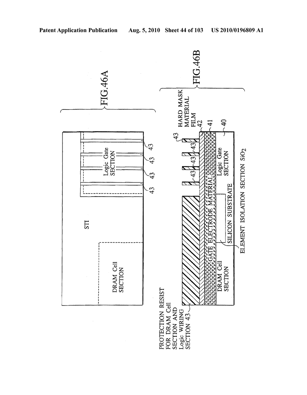 SEMICONDUCTOR DEVICE FABRICATION METHOD AND SEMICONDUCTOR DEVICE - diagram, schematic, and image 45