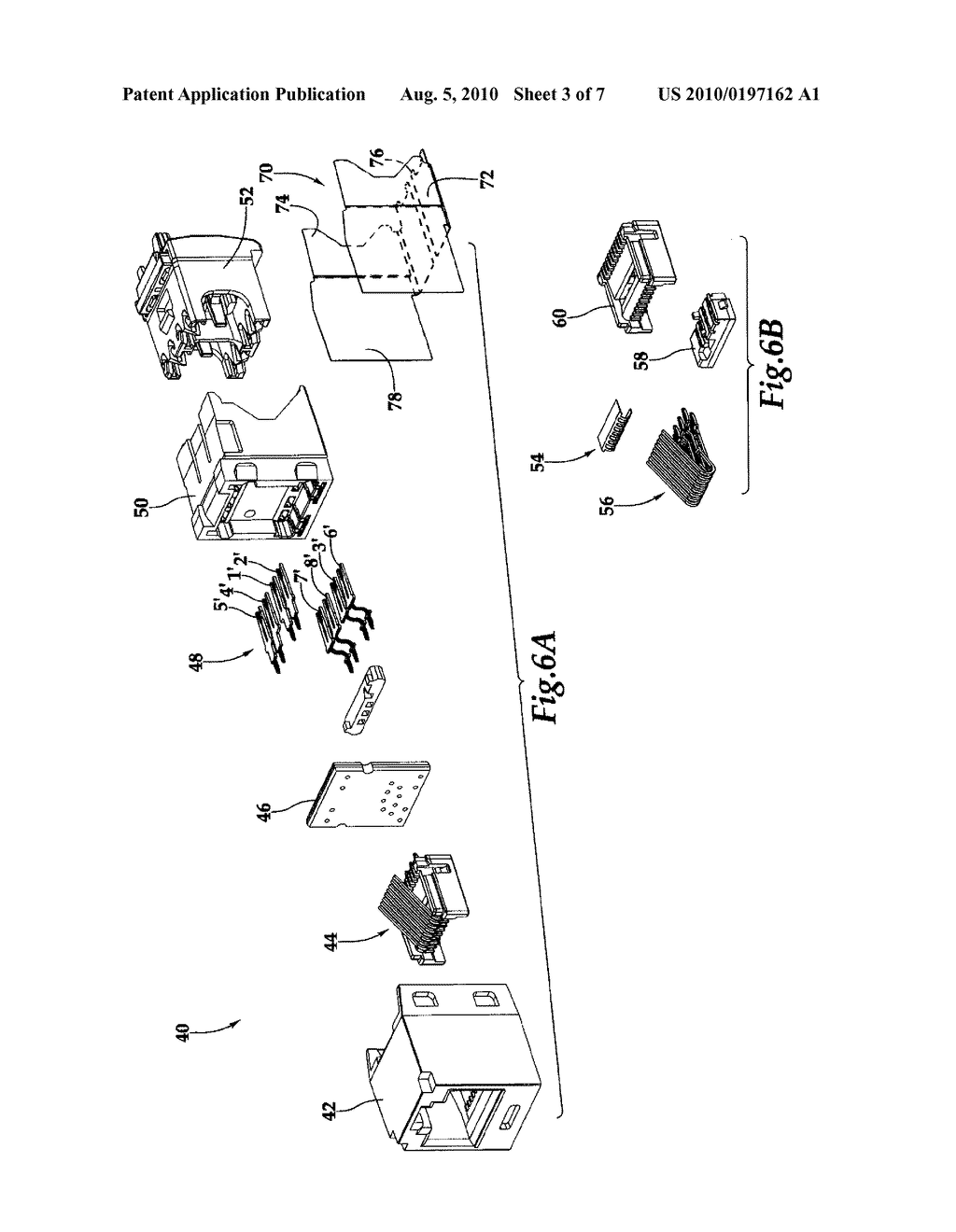 METHOD AND SYSTEM FOR IMPROVING CROSSTALK ATTENUATION WITHIN A PLUG/JACK CONNECTION AND BETWEEN NEARBY PLUG/JACK COMBINATIONS - diagram, schematic, and image 04