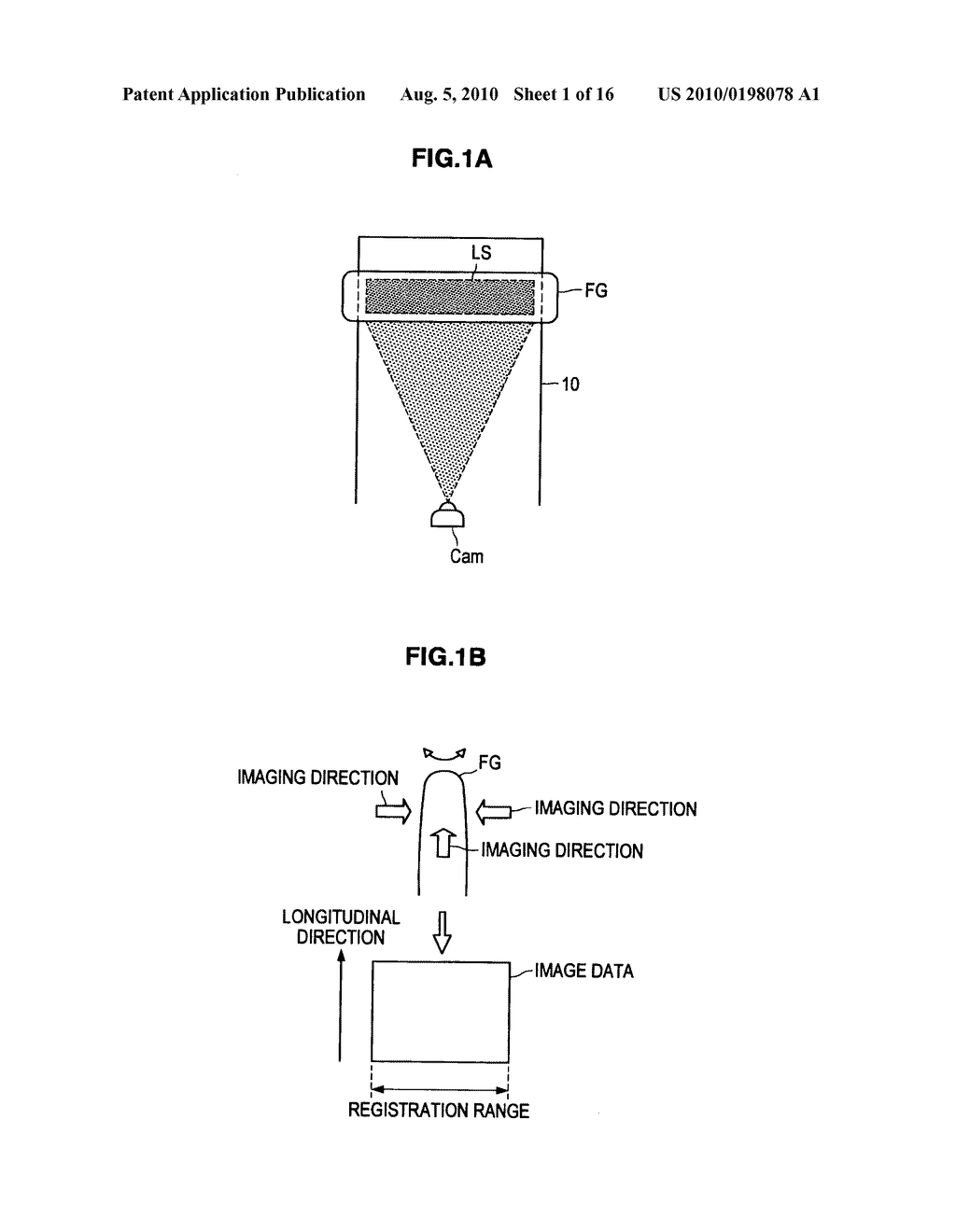 VEIN AUTHENTICATION APPARATUS AND TEMPLATE REGISTRATION METHOD - diagram, schematic, and image 02