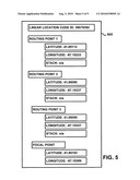 Method for Representing Linear Features in a Location Content Management System diagram and image