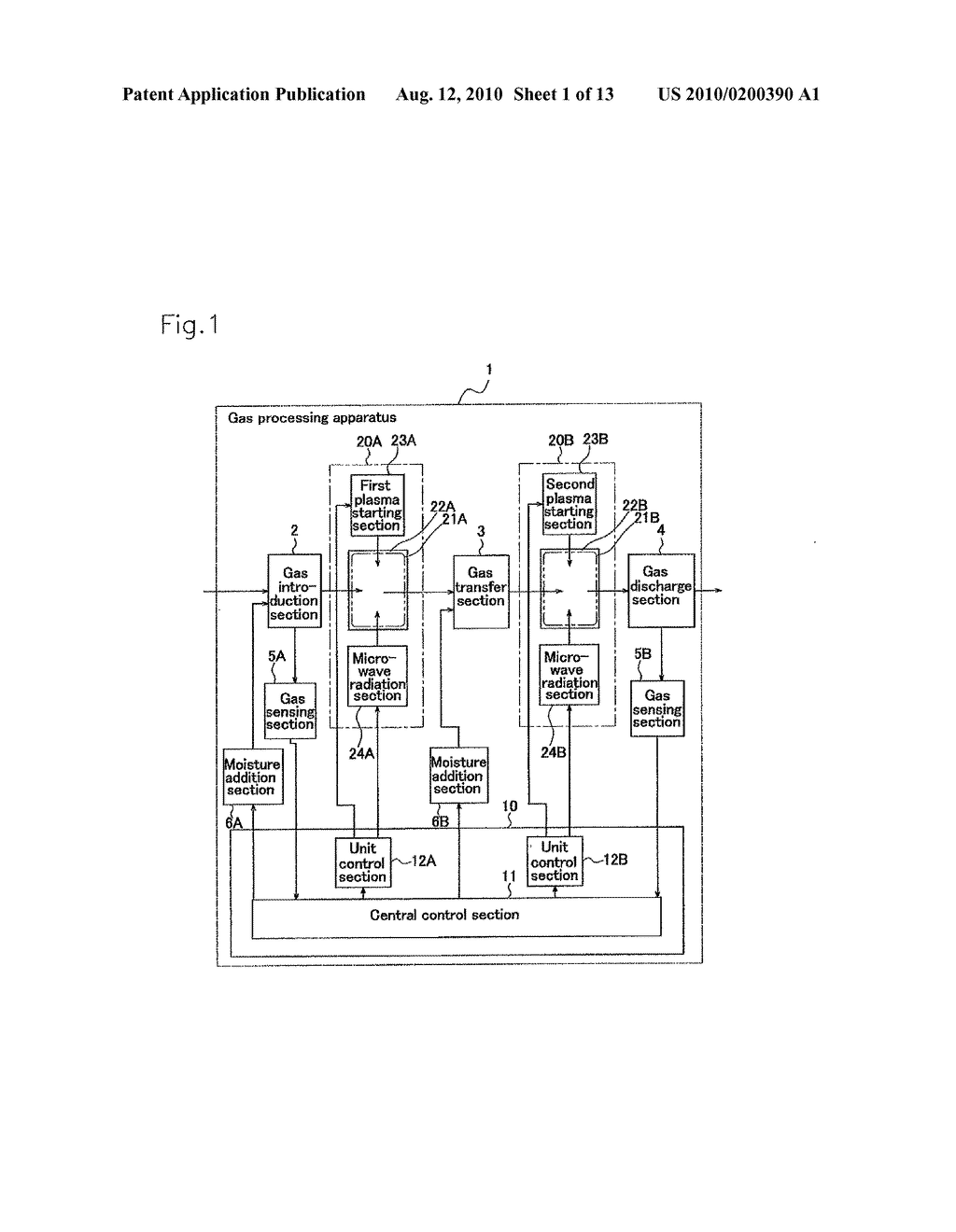GAS PROCESSING APPARATUS, GAS PROCESSING SYSTEM, AND GAS PROCESSING METHOD, AND EXHAUST GAS PROCESSING SYSTEM AND INTERNAL COMBUSTION ENGINE USING THE SAME - diagram, schematic, and image 02
