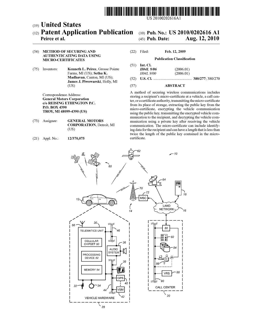 METHOD OF SECURING AND AUTHENTICATING DATA USING MICRO-CERTIFICATES - diagram, schematic, and image 01