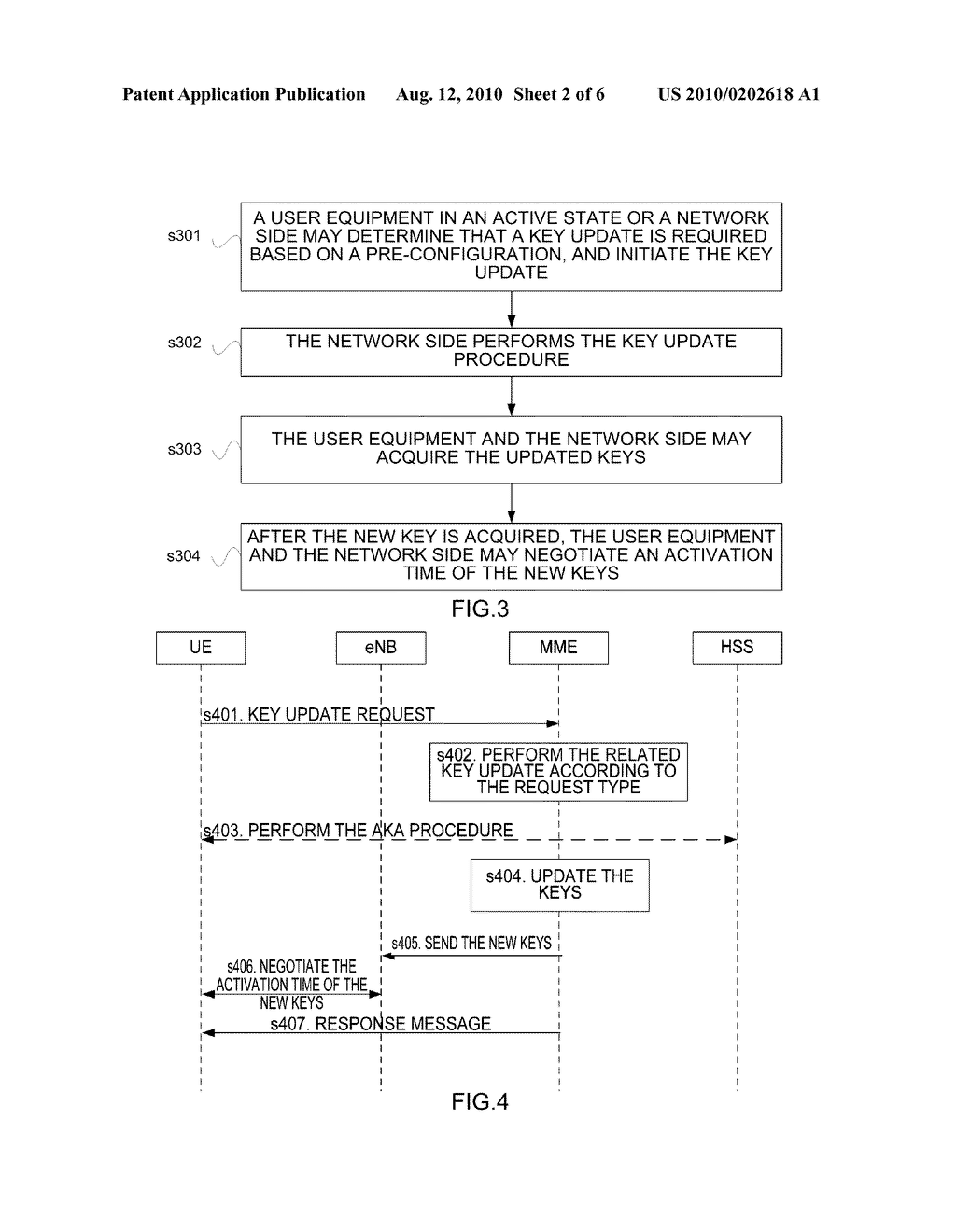 Method and apparatus for updating key in an active state - diagram, schematic, and image 03