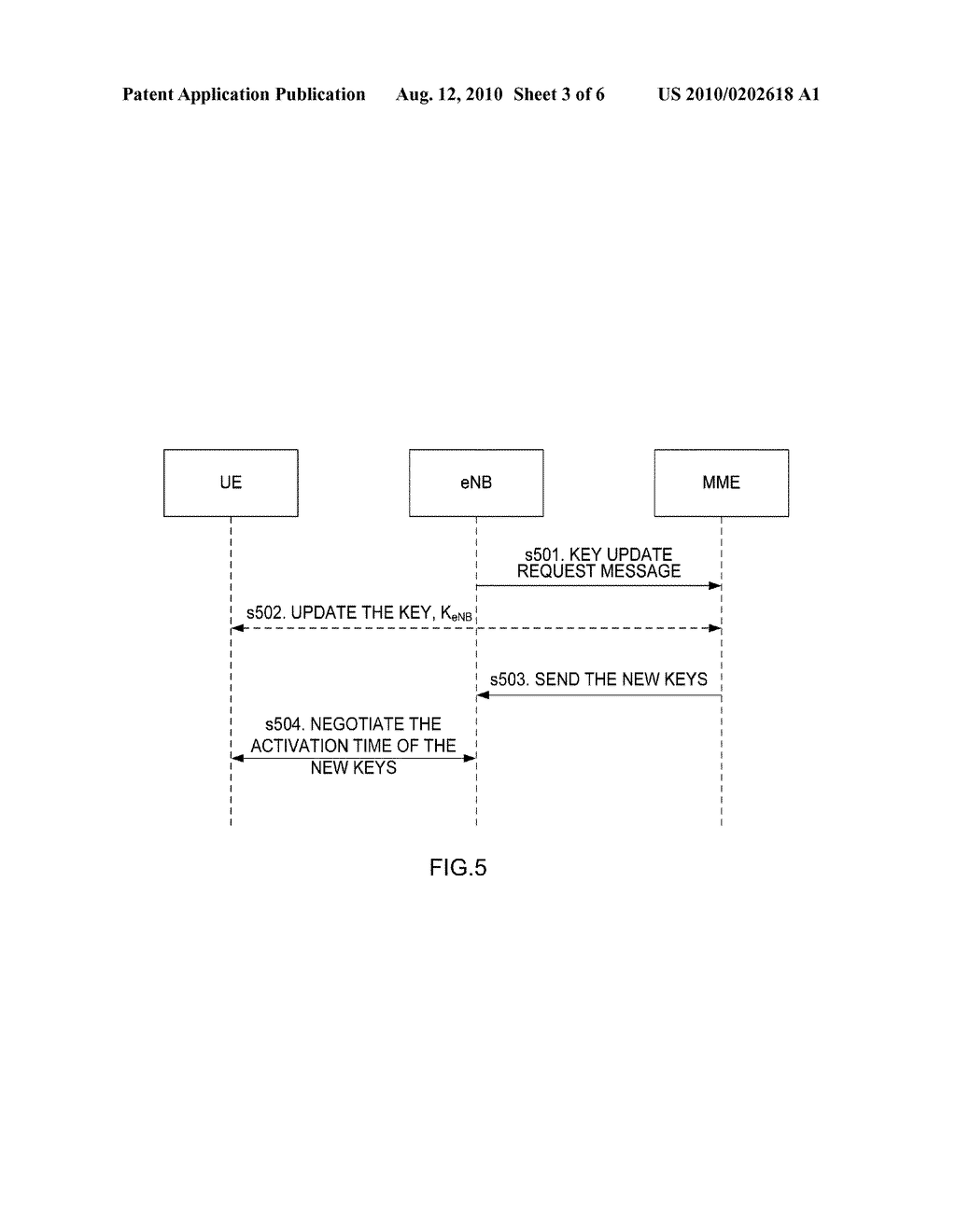 Method and apparatus for updating key in an active state - diagram, schematic, and image 04