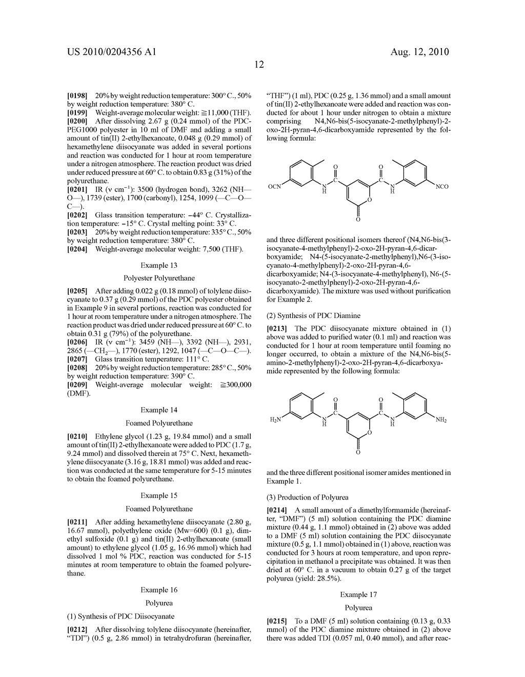 POLYURETHANES, POLYUREAS, AND PROCESS FOR THEIR PRODUCTION - diagram, schematic, and image 15