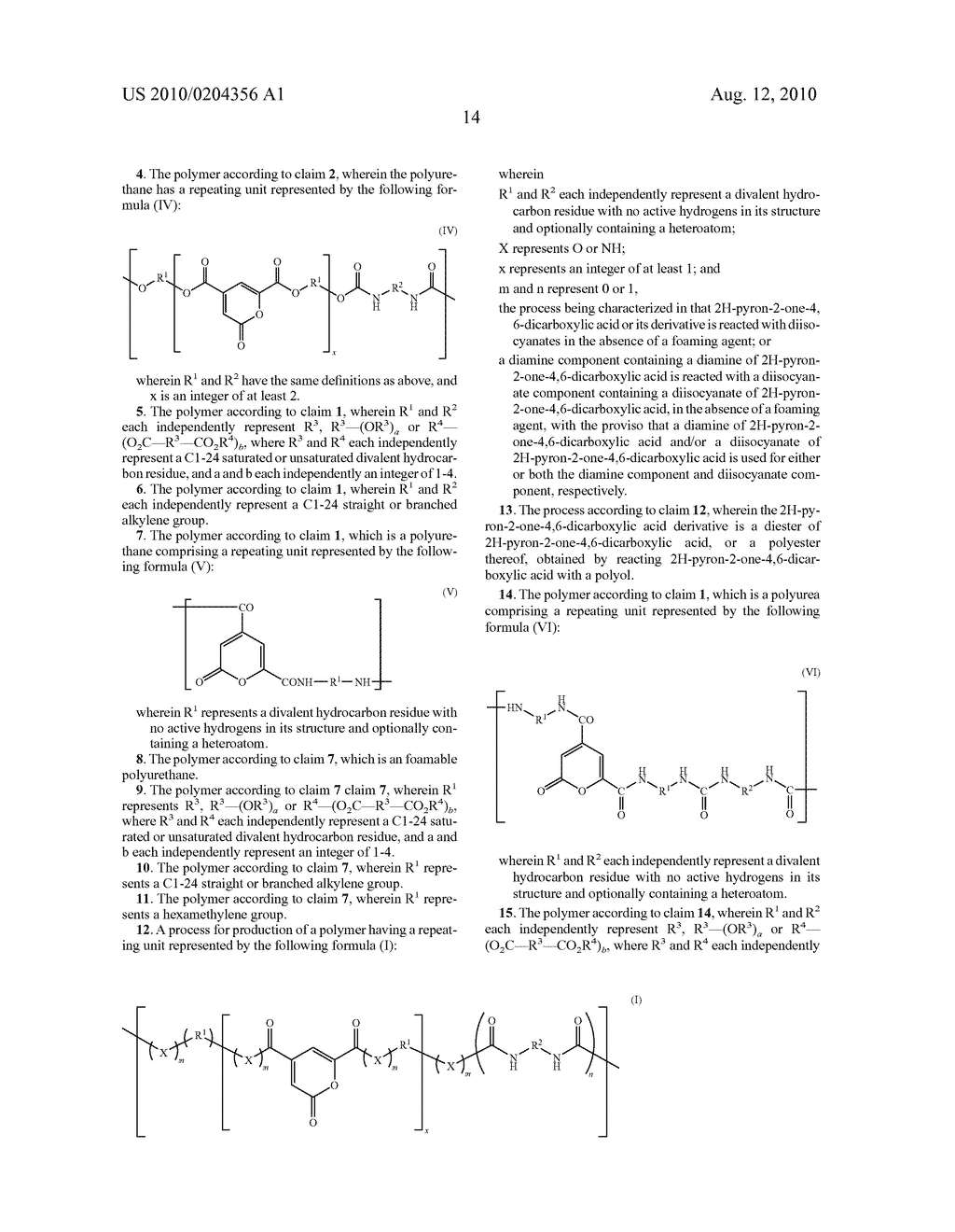 POLYURETHANES, POLYUREAS, AND PROCESS FOR THEIR PRODUCTION - diagram, schematic, and image 17