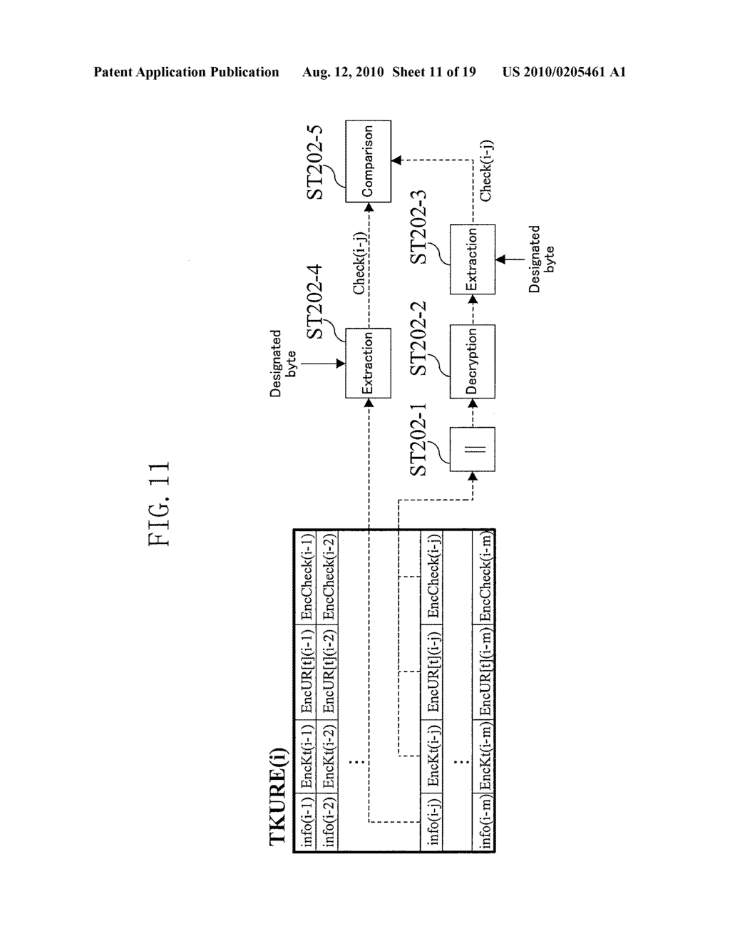 METHOD FOR GENERATING DATA FOR DETECTION OF TAMPERING, AND METHOD AND APPARATUS FOR DETECTION OF TAMPERING - diagram, schematic, and image 12