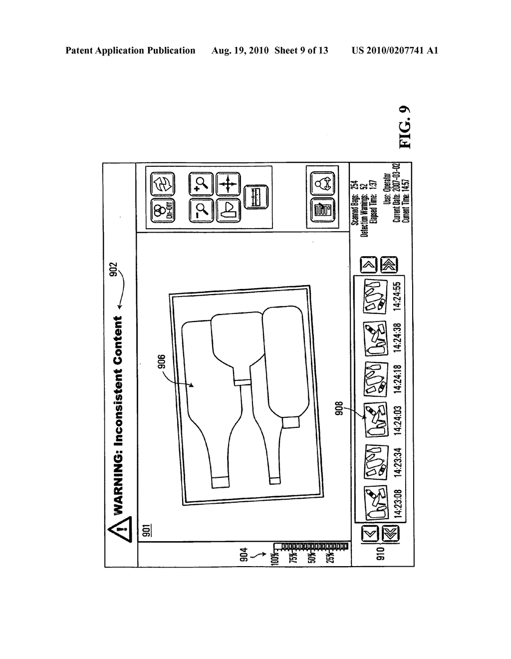 METHOD, APPARATUS AND SYSTEM FOR USE IN CONNECTION WITH THE INSPECTION OF LIQUID MERCHANDISE - diagram, schematic, and image 10