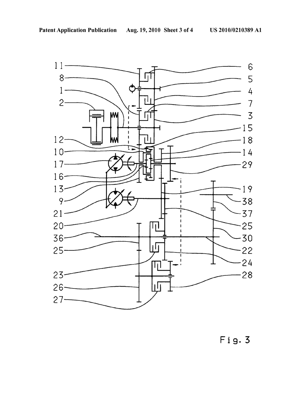 HYDROSTSATIC-MECHANICAL POWER SPLIT TRANSMISSION - diagram, schematic, and image 04