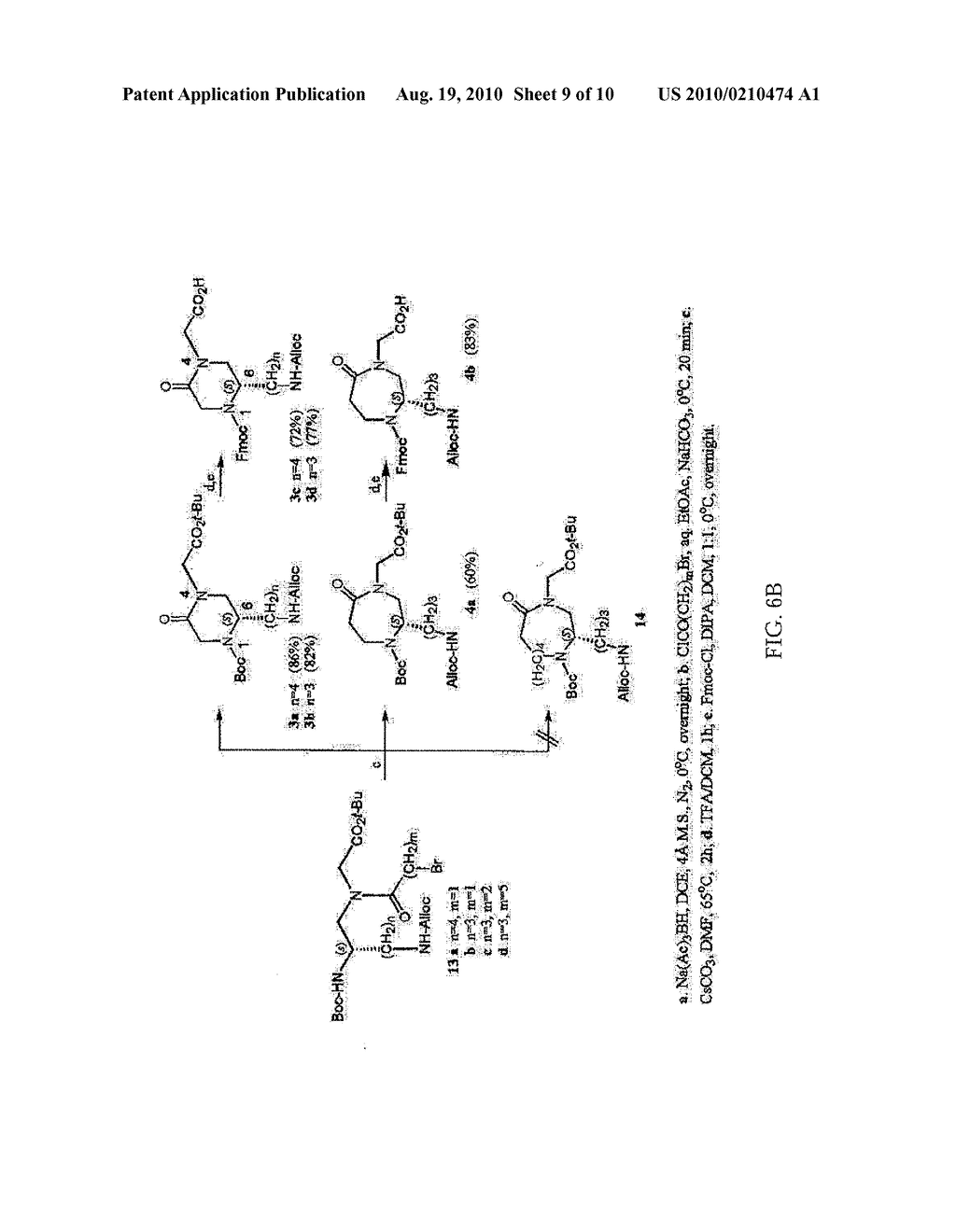HETEROCYCLIC SCAFFOLDS USEFUL FOR PREPARATION OF COMBINATORIAL LIBRARIES, LIBRARIES AND METHODS FOR PREPARATION THEREOF - diagram, schematic, and image 11