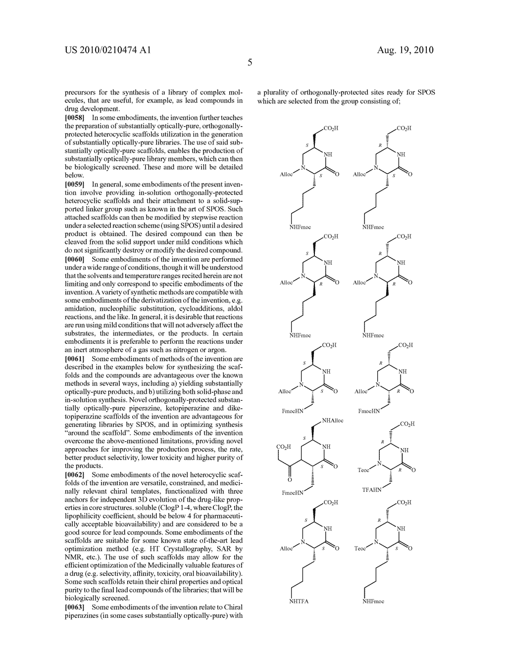 HETEROCYCLIC SCAFFOLDS USEFUL FOR PREPARATION OF COMBINATORIAL LIBRARIES, LIBRARIES AND METHODS FOR PREPARATION THEREOF - diagram, schematic, and image 17