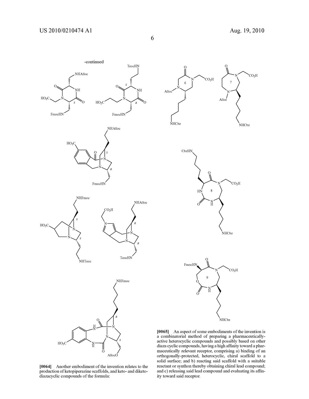HETEROCYCLIC SCAFFOLDS USEFUL FOR PREPARATION OF COMBINATORIAL LIBRARIES, LIBRARIES AND METHODS FOR PREPARATION THEREOF - diagram, schematic, and image 18