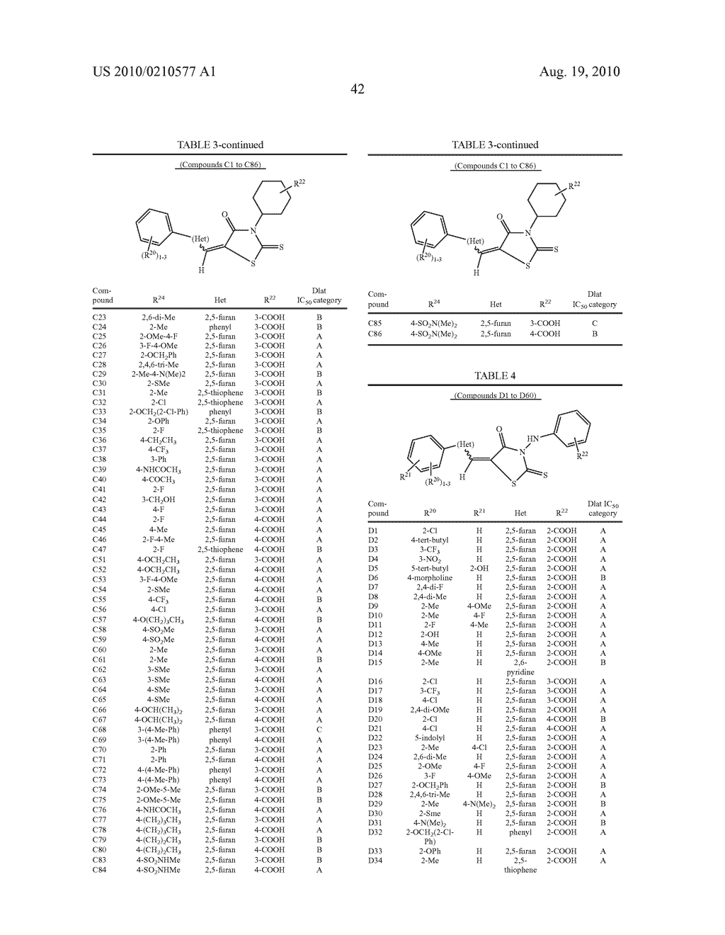CYCLIC CARBOXYLIC ACID RHODANINE DERIVATIVES FOR THE TREATMENT AND PREVENTION OF TUBERCULOSIS - diagram, schematic, and image 52