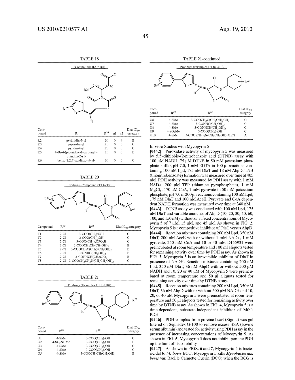 CYCLIC CARBOXYLIC ACID RHODANINE DERIVATIVES FOR THE TREATMENT AND PREVENTION OF TUBERCULOSIS - diagram, schematic, and image 55