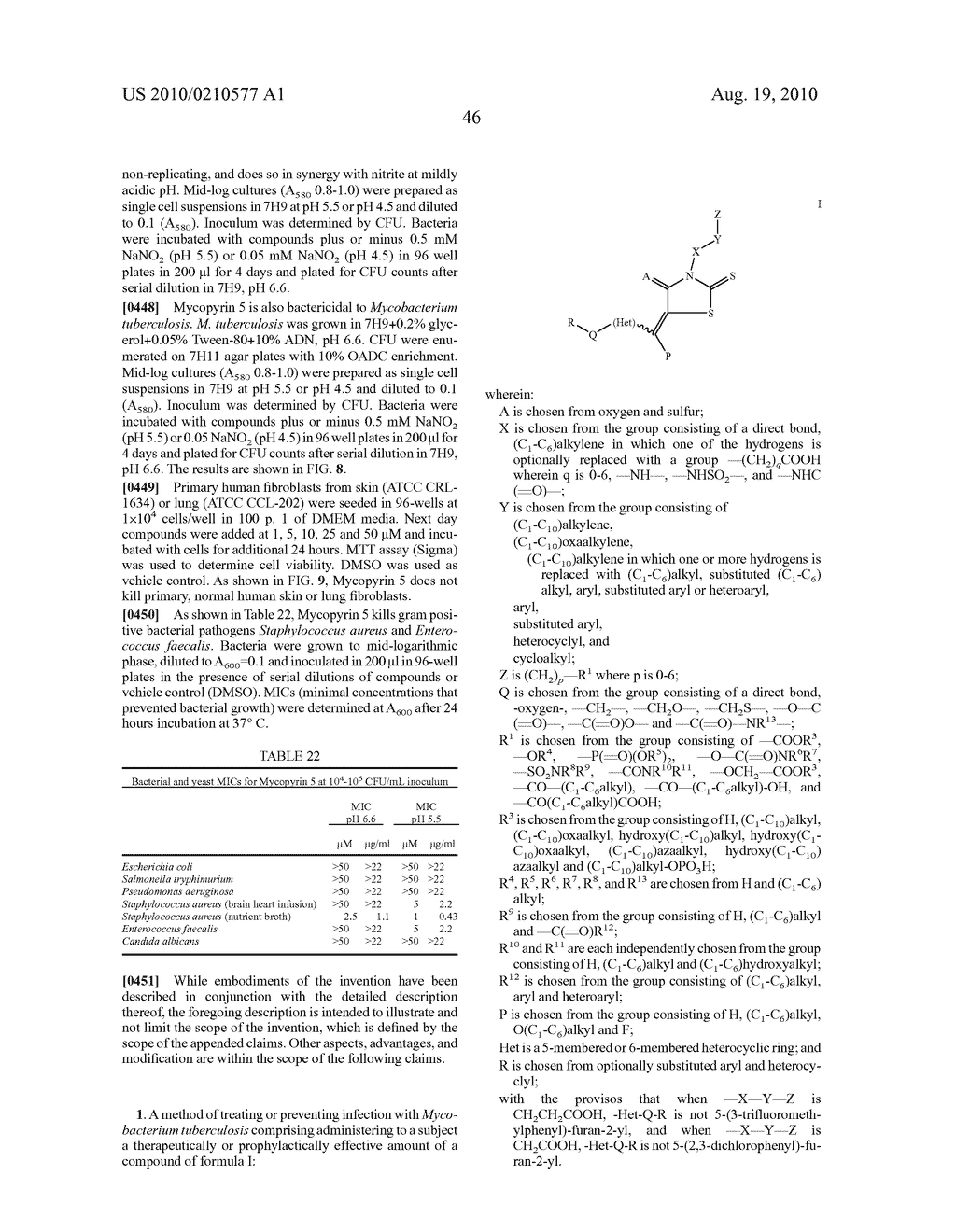 CYCLIC CARBOXYLIC ACID RHODANINE DERIVATIVES FOR THE TREATMENT AND PREVENTION OF TUBERCULOSIS - diagram, schematic, and image 56