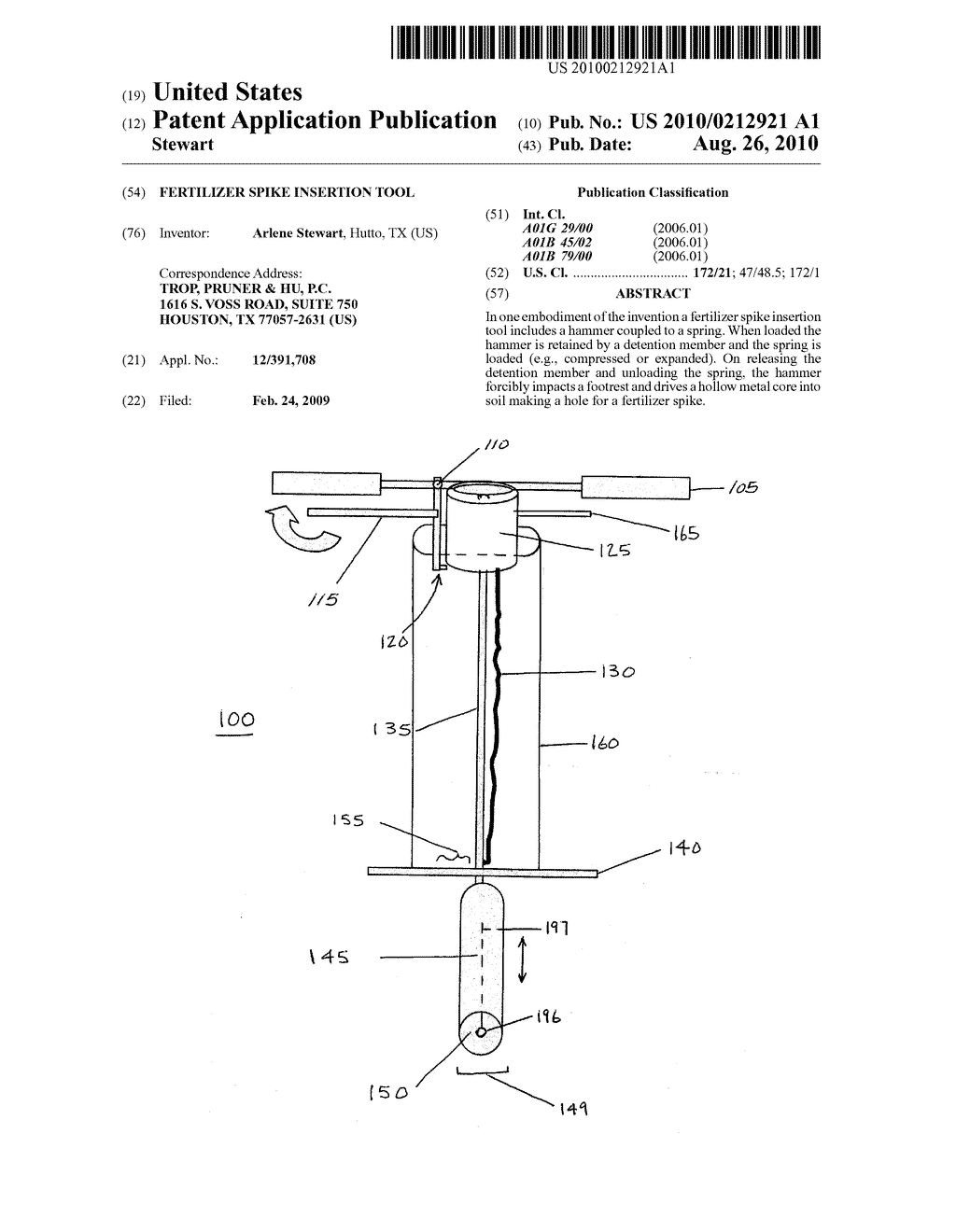 Fertilizer Spike Insertion Tool - diagram, schematic, and ... on