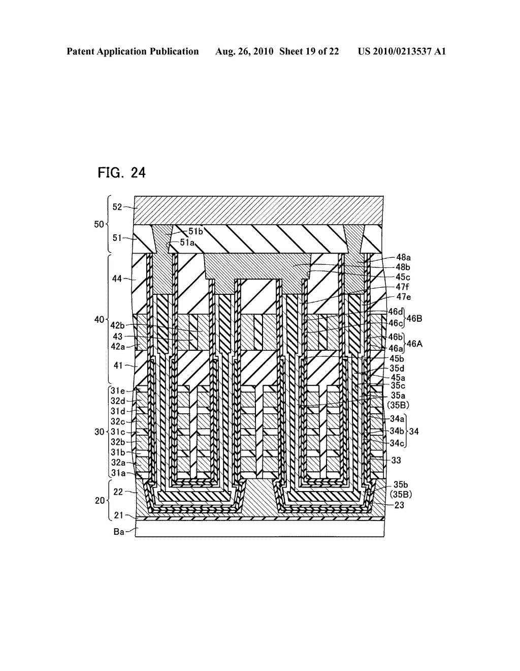 NONVOLATILE SEMICONDUCTOR MEMORY DEVICE AND METHOD OF MANUFACTURING THE SAME - diagram, schematic, and image 20