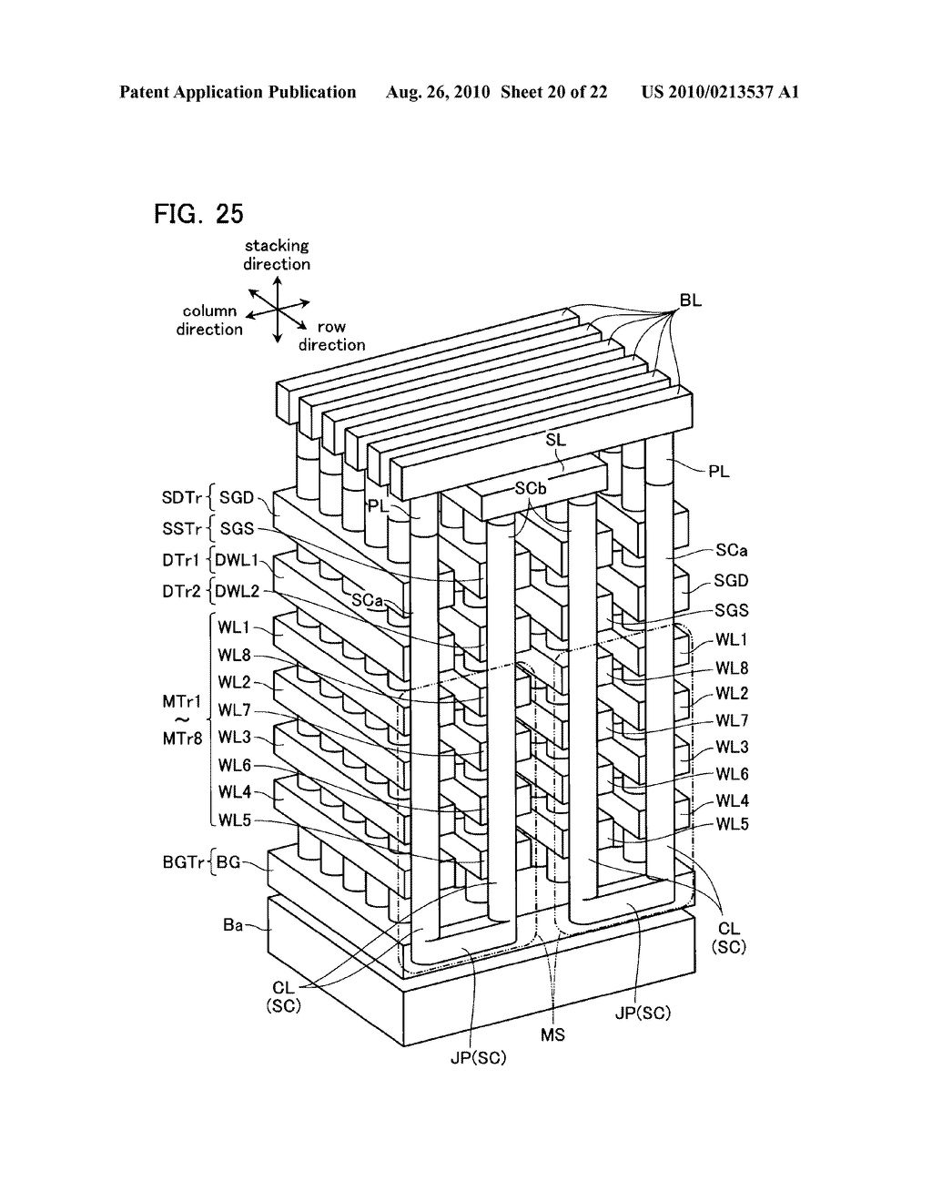 NONVOLATILE SEMICONDUCTOR MEMORY DEVICE AND METHOD OF MANUFACTURING THE SAME - diagram, schematic, and image 21