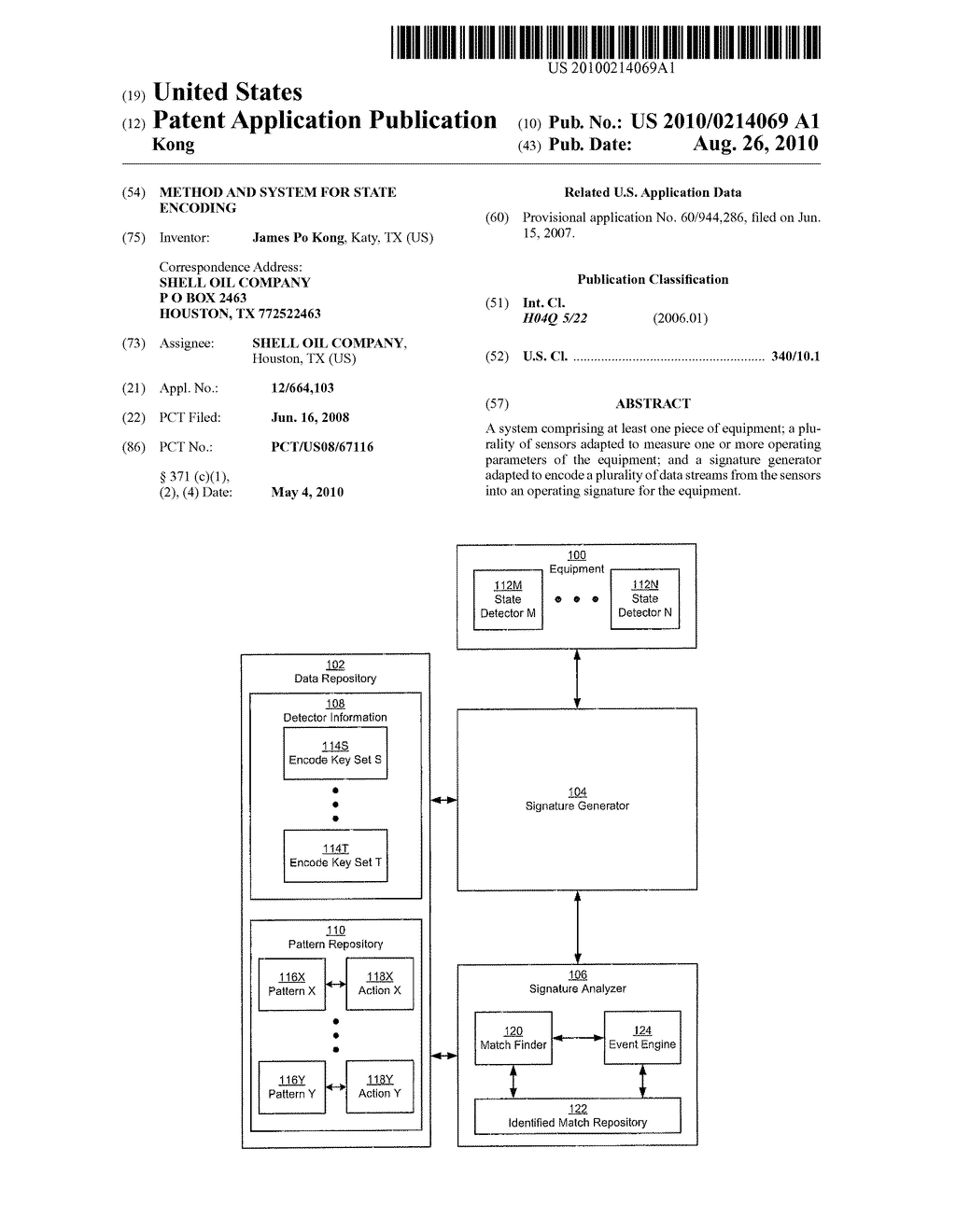 METHOD AND SYSTEM FOR STATE ENCODING - diagram, schematic, and image 01