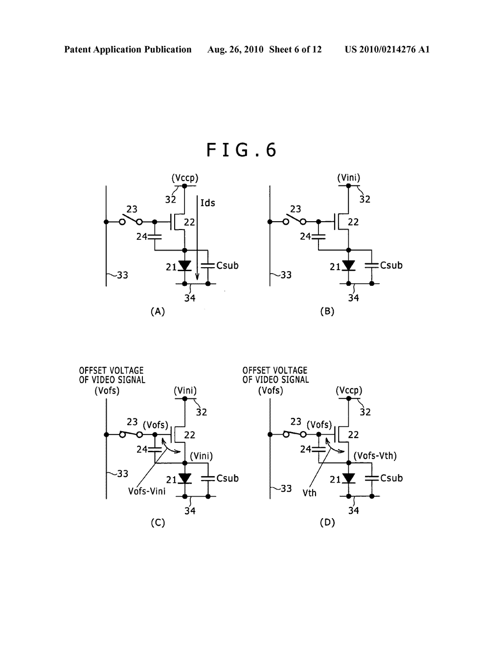 DISPLAY APPARATUS, DRIVING METHOD OF DISPLAY APPARATUS AND ELECTRONIC EQUIPMENT - diagram, schematic, and image 07