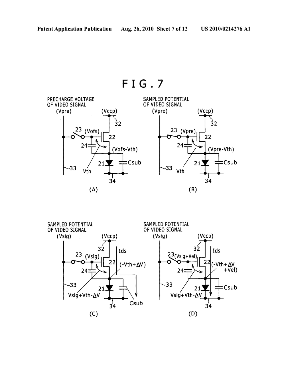 DISPLAY APPARATUS, DRIVING METHOD OF DISPLAY APPARATUS AND ELECTRONIC EQUIPMENT - diagram, schematic, and image 08