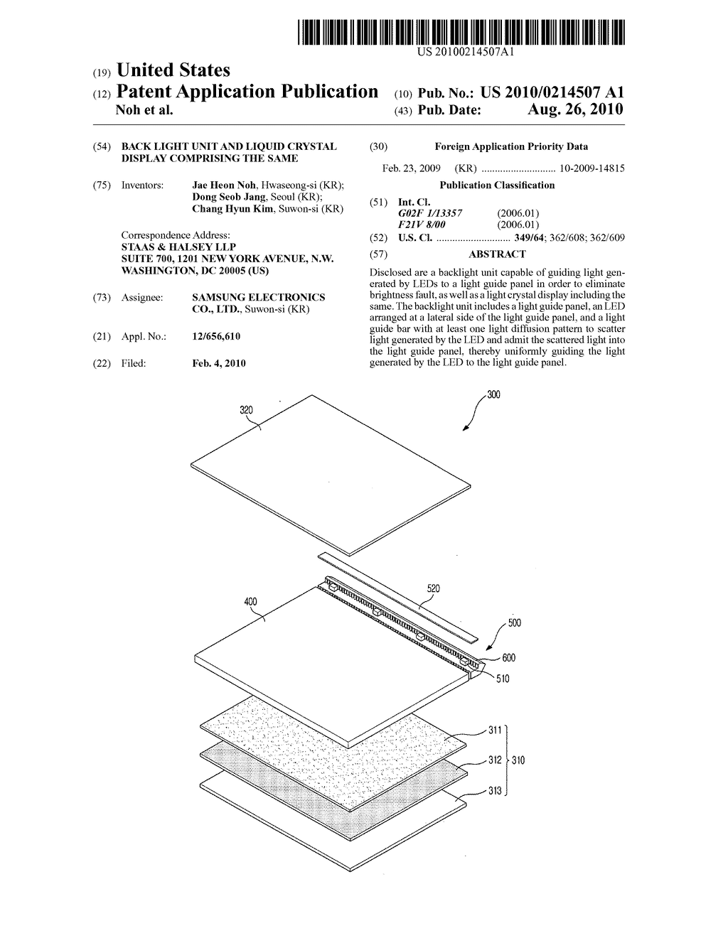 Back light unit and liquid crystal display comprising the same - diagram, schematic, and image 01