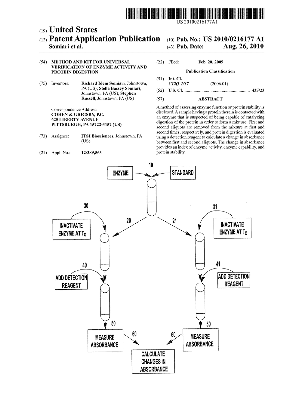 METHOD AND KIT FOR UNIVERSAL VERIFICATION OF ENZYME ACTIVITY AND PROTEIN DIGESTION - diagram, schematic, and image 01