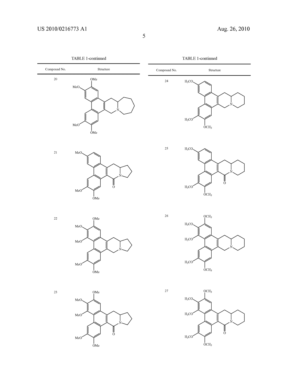 PHENANTHROINDOLIZIDINE ANALOGUES - diagram, schematic, and image 06