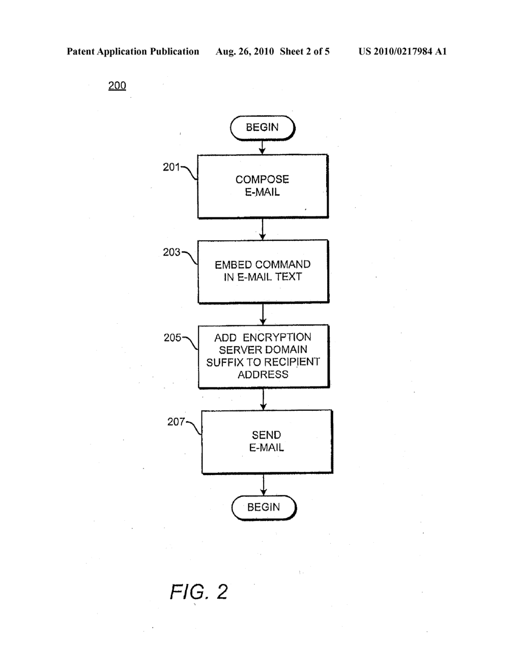 METHODS AND APPARATUS FOR ENCRYPTING AND DECRYPTING EMAIL MESSAGES - diagram, schematic, and image 03