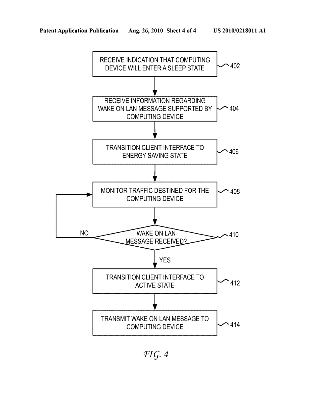 System and Method for Energy Savings Through Emulation of Wake on Lan in Energy Efficient Ethernet - diagram, schematic, and image 05