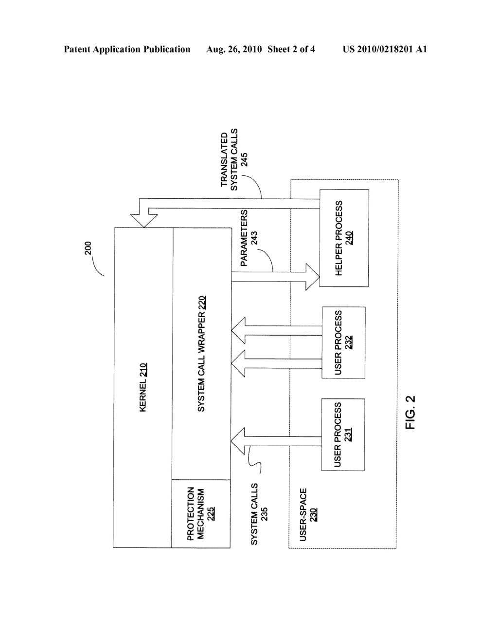 METHOD AND AN APPARATUS TO IMPLEMENT SECURE SYSTEM CALL WRAPPERS - diagram, schematic, and image 03