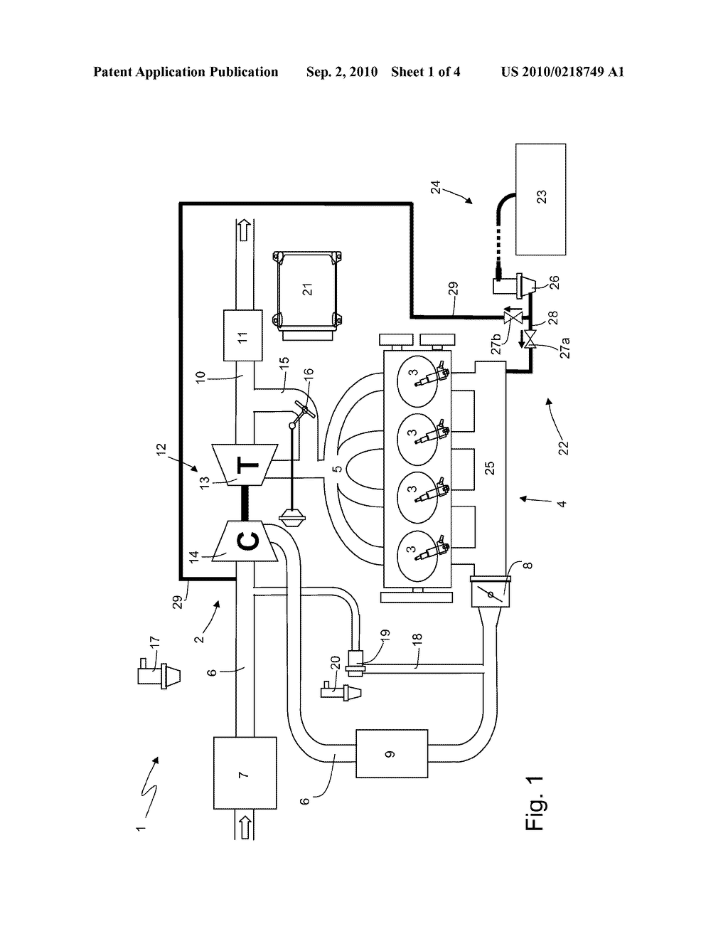 Intake Manifold With Integrated Canister Circuit For A Supercharged  Internal Combustion Engine - diagram, schematic, and image 02