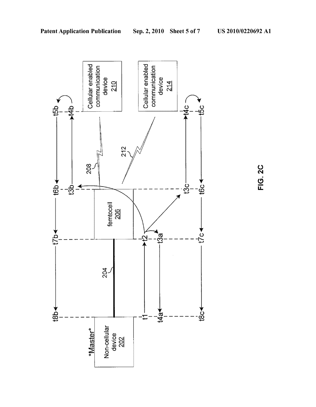 METHOD AND SYSTEM FOR NETWORK SYNCHRONIZATION VIA A FEMTOCELL - diagram, schematic, and image 06