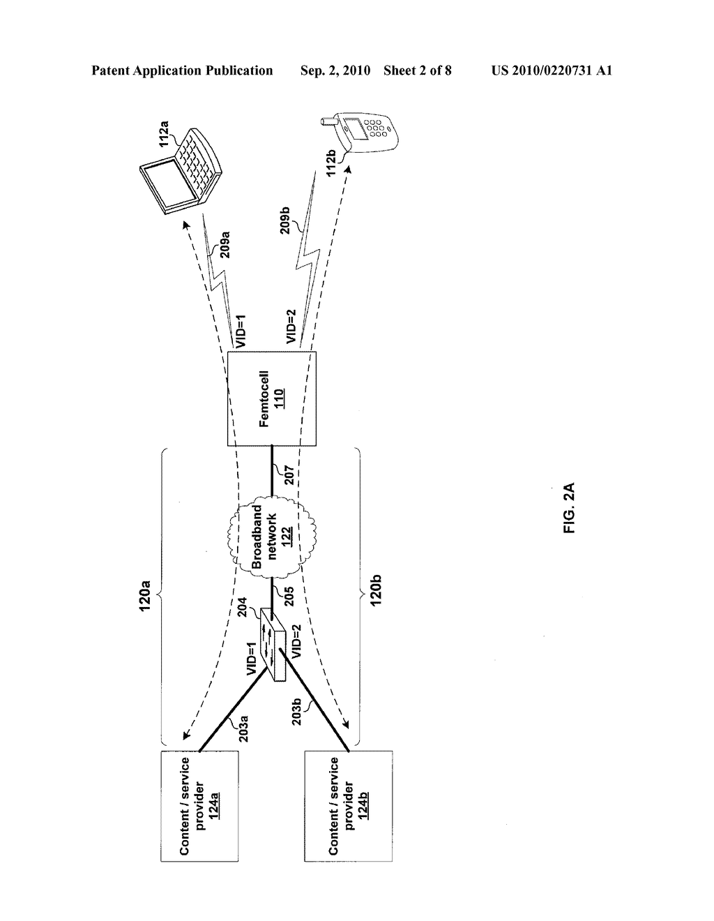 METHOD AND SYSTEM FOR SUPPORTING A PLURALITY OF PROVIDERS VIA A SINGLE FEMTOCELL - diagram, schematic, and image 03