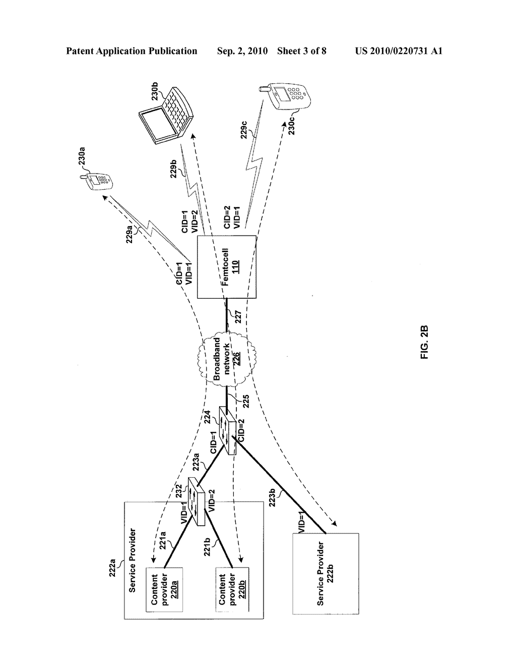 METHOD AND SYSTEM FOR SUPPORTING A PLURALITY OF PROVIDERS VIA A SINGLE FEMTOCELL - diagram, schematic, and image 04